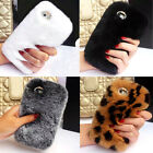 Luxury Winter Top Soft Rabbit Fur Hair Case Cover for iPhone Samsung Moblie TM1