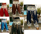 LADIES HAREM PANTS- BAGGY SMOCKED - LEGGINGS - THAI BEACH CHIC-BATIK- COLOURS