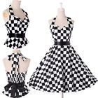 ❤ 2015 CLEARANCE ❤ VINTAGE RETRO 50s Halter Rockabilly Swing Pin up Prom Dresses