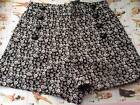 JAWBREAKER BLACK WHITE SKULL PRINT SHORTS ALTERNATIVE 8 10 12 14 NEW