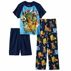 Pokemon Pikachu & Friends 3-pc Pajamas Set Size 6 - 8 - 10  NWT