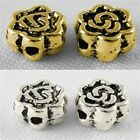 50 x Tibetan Style  Flower Bead Spacers various Colours