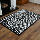 MEDIUM MODERN RUG LARGE X LARGE BLACK IVORY CREAM ZEBRA BEST QUALITY RUG ON SALE