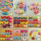 100-600 Plastic Wood Button Mickey Butterfly Heart Flower Dragonfly Sewing Craft