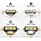 6x Antique Brass Silver Drawer Label Pull Cabinet Frame Handle Name Card Holder