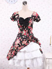 New Pretty women fashion Cabbage Patch Short Sleeves Cotton Classic Lolita Dress