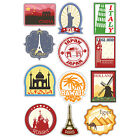 A4 Sheet - 12 x Travel Vinyl Stickers Decal iPad Laptop Suitcase Labels #4803