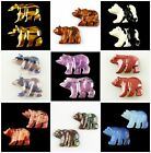 0505 Two Carved Kinds Of Stone Bear Pendant bead