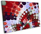 Psychedelic Funky Red Tiles Modern Framed Canvas Wall Art Picture Print