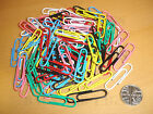 100 Large 35mm Paper Clips Plastic Covered Paperclips - Choose From 7 Colours