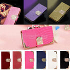 Luxury Deluxe Bling PU leather Flip Wallet Case Cover for iPhone 6 6 Plus 5S 4S