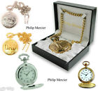 Philip Mercier Gold & Silver In Colour Metal Pocket Fob Watch Gift Box Included