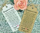 Personalised Wedding Honeymoon Money Request Poem Card Favour Gift Tag  Rsvp