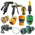 Pipe Nozzle Fitting Tap Adaptor Connector Garden Car Water Hose 1 / 2 3 / '4 LOT