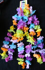 6 Pretty Leis Garlands Pastel flower Garland Decorations Neck leis Hawaiian Hen
