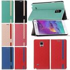 Luxury Flip Leather Cover Case Skin Slot Stand For Samsung Galaxy Note 4 IV N910