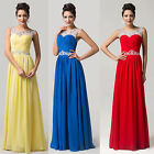 PLUS SIZE Red Long Chiffon Cocktail Bridesmaid Formal Banquet Party Prom Dresses