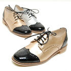 2scd0885 Metal gold or silver oxford casual shoes