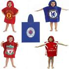 FOOTBALL CLUB FC CHILDRENS KIDS HOODED FOOTBALL PONCHO COTTON BEACH BATH TOWEL