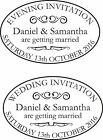 PERSONALISED WEDDING & EVENING INVITE RUBBER STAMPS SET OF 2 11617 & FREE PAD
