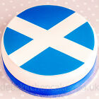 """Scottish Flag Cake Topper - 7.5"""" Round - Edible Wafer or Icing"""