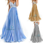 Straps Long Chiffon Lace Evening Dress Party Prom Cocktail Gown Bridesmaid Dress