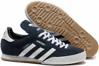 ADIDAS ORIGINALS MENS SAMBA SUPER SUEDE SIZE 7-12 TRAINERS SHOES CASUAL BLUE NEW