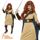 Adult Warrior Queen Costume Medieval Game of Thrones Fancy Dress Outfit UK 8-18