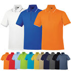 Mens Womens Zipup Coolmax Dryfit PK Golf Tennis Collar Polo Tshirts Top KH1014