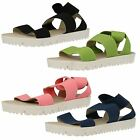 Down to Earth Ladies Elasticated Flat Sandals