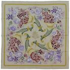 Authentic Vintage Hermes Silk Scarf FLEURS ET RAISINS Pearl Excellent Condition
