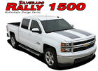 2014-2015 Chevy Silverado RALLY 1500 3M Vinyl Hood Tail Stripe Decals Graphic