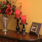 Pacific Accents Wax Glittered Pillar Candle