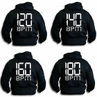 BPM Dubstep Jungle Acid Techno Deep House Hardcore Drum & Bass Hoodie Sm-2XL