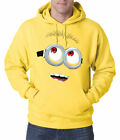 Despicable Me Minion Face Adult Hoodie New