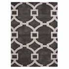 City Collection Hand Tufted Geometric Circle Pattern Area Rug