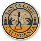 2 x Santa Cruz California Vinyl Sticker iPad Laptop Car Surf Cali USA #5075/SV