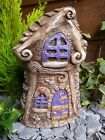 Fairy House Crooked Cottage Garden Ornament, Hand Cast In The UK, Perfect Gift