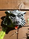 Gothic Gargoyle With Tongue Out Wall Hanging Plaque Garde Ornament