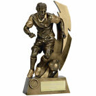Gold Flash Football Trophy Man of the Match Award 5 sizes FREE ENGRAVING