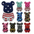 Teddy Bear Superhero Soft Silicone Rubber 3D Cartoon Case Cover For iPhone 4 5 6