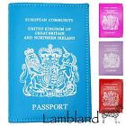 Genuine Leather UK & Northern Ireland Passport Cover (Black, Pink, Red, Lilac)