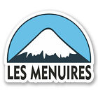 2 x 10cm Les Menuires Snowboard Vinyl Sticker iPad Laptop Luggage Travel #5136