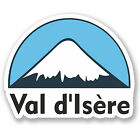 2 x 10cm Val d'Isere Snowboard Vinyl Sticker iPad Laptop Luggage Travel #5142