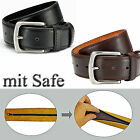 2 x Belts With Balt Safe 1 x Black + 1 x Brown Money Belt With Leather