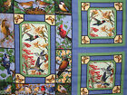 Bird birds cotton quilting fabric panel or allover print *Choose design & size