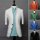 Men's Personality Casual Small Suits Fashion Half Sleeve Slim Fit Jacket Coats