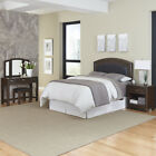 Crescent Hill Upholstered Headboard, Night Stand, and Vanity Set