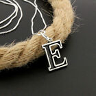 Sterling silver initial Letter Alphabet charm necklace Pendant With Chain S13