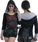 Slayer Metal Rock DIY Funky Pullover Corset Hoodie Top Shirt